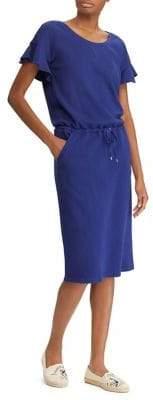 Lauren Ralph Lauren Ruffled French Terry T-Shirt Dress
