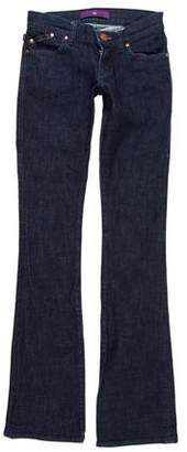Victoria Beckham Denim Low-Rise Straight-Leg Jeans