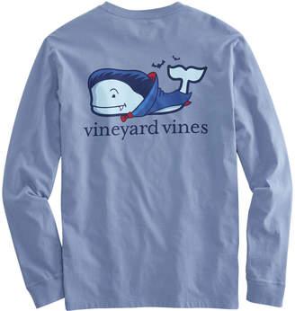 Vineyard Vines Long-Sleeve Vampire Whale Pocket T-Shirt