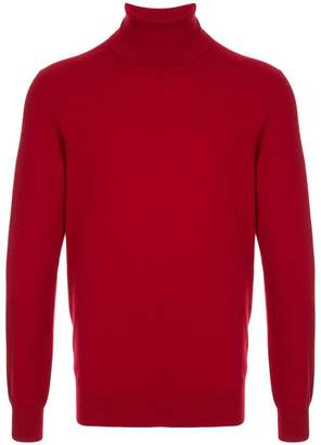 Laneus roll neck fitted jumper