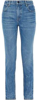 Alexander Wang Faded High-Rise Slim-Leg Jeans