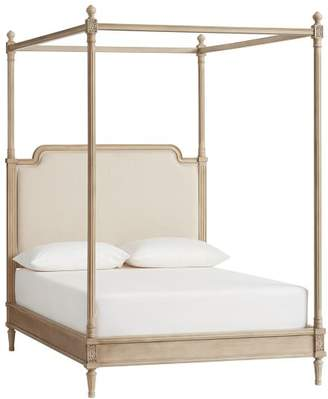 Pottery Barn Teen Colette Canopy Bed, Full, Washed Sand