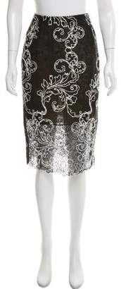 Oscar de la Renta Lace Knee-Length Skirt
