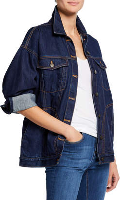 Notify Jeans Big J Oversized Denim Trucker Jacket