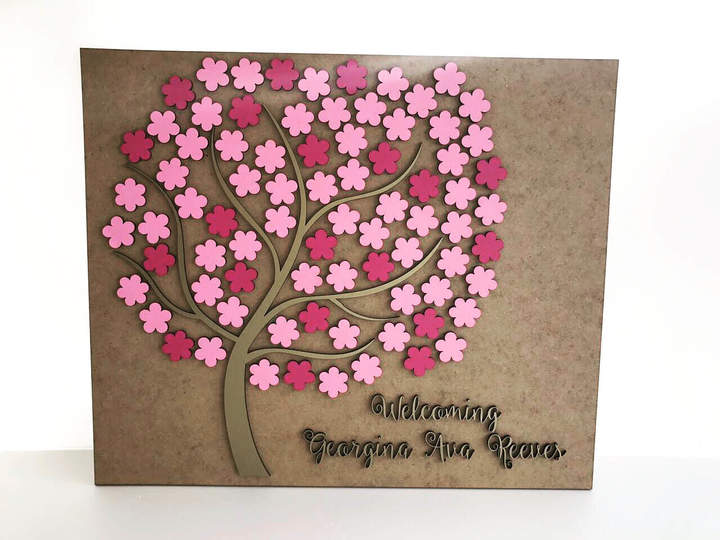 Etsy Personalized wedding rustic guest book 3D Wooden Custom guestbook Alternative flowers guestbook Uniq