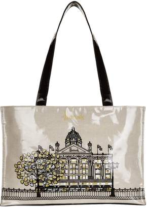 Harrods Metallic Windows Shoulder Tote Bag