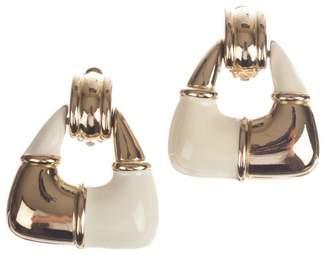 Givenchy Two Tone Dangle Hoop Earrings