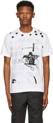 Comme des Garcons White and Black Basquiat Print T-Shirt