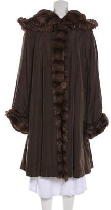 Fendi Reversible Fur-Trimmed Coat