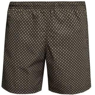 Alexander McQueen Skull Printed Swim Shorts - Mens - Black Multi