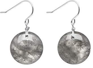 Lola Rose Women's Base Metal Geotopia Disc Cloudy Quartz Earrings
