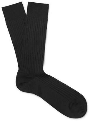 Marcoliani Ribbed Merino Wool-Blend Socks