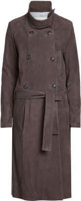 Golden Goose Suede Trench Coat