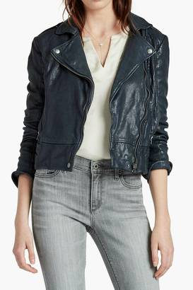 Lucky Brand Leather Moto Jacket $499 thestylecure.com