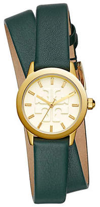 Tory Burch The Gigi Valley Forge Green Leather Gold-Tone Watch