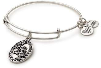Alex and Ani Granddaughter Flower Charm Expandable Wire Bangle Bracelet