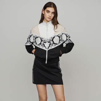 Maje Zipped sweatshirt with python print band