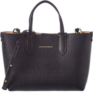 Alexander McQueen Mini Embossed Leather Shopper Tote
