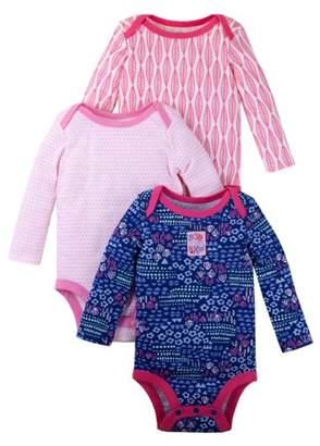 Lamaze Organic Cotton Short Sleeve Graphic Bodysuits, 3-pack (Baby Girls)