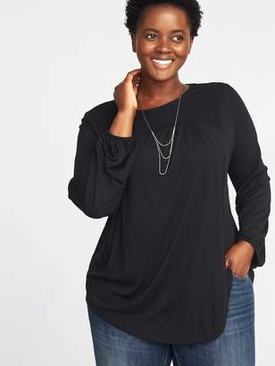 Old Navy Crochet-Lace Plus-Size Jersey Top