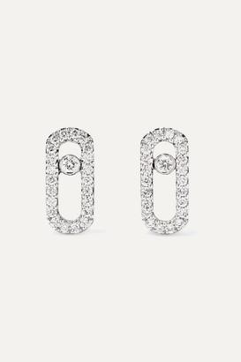 Möve Messika Uno 18-karat White Gold Diamond Earrings