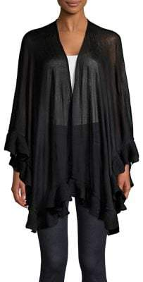 Collection 18 Asymmetric Ruffle Poncho