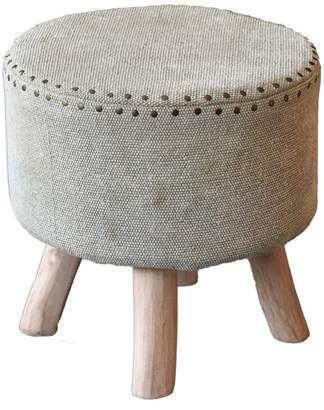 Uttermost Lucas Cotton And Wood Accent Stool 23966