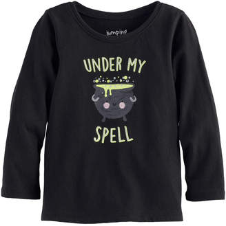 Baby Girl Jumping Beans Halloween Graphic Tee