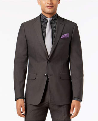 Sean John Closeout! Men's Slim-Fit Stretch Black/White Neat Suit Jacket