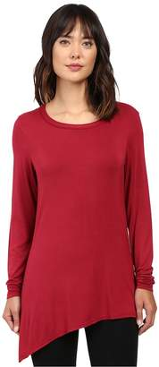 Trina Turk Long Sleeve Drape Shirt Women's Clothing