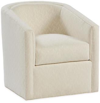 MONICA Swivel Glider Chair - Parchment Crypton - Miles Talbott
