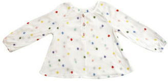 Margherita Kids Girls 2-6x Little Girls Roundneck Embroidered Long-Sleeve Top $45 thestylecure.com