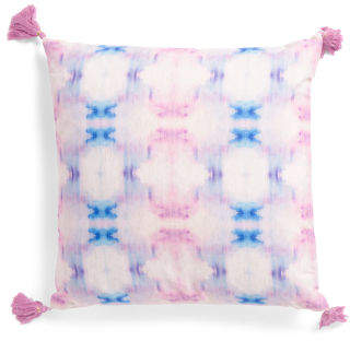 20x20 Patterned Shibori Pillow