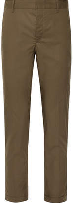 Prada Slim-Fit Cotton-Poplin Trousers