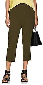 Rick Owens Women's Astair Wool Drop-Rise Pants - Dirty Green