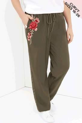 Girls On Film Curvy Khaki Trousers