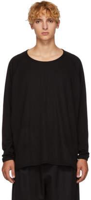 Jan-Jan Van Essche Black 1/1 Rib Sweater