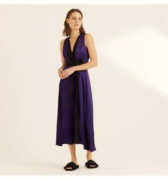 Amanda Wakeley Violet Crepe Back Satin Midi Dress