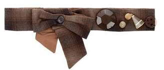 Marni Plaid Bow Belt
