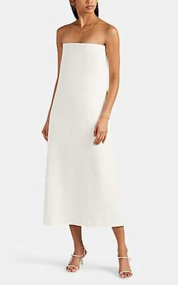 The Row Women's Paola Stretch Wool-Blend Strapless Column Dress - Ivory