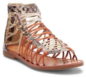 Vintage Havana Ally Snake-Embossed Gladiator Sandal