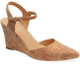 Bill Blass Perdi Cork Wedge Sandals