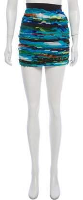 Rag & Bone Silk Raw-Edge Skirt