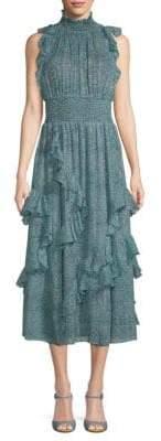 Rebecca Taylor Minnie Ruffled Floral Chiffon Dress