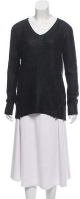Ella Moss Coated V-Neck Sweater