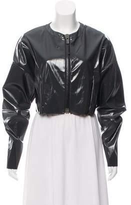 Alo Yoga Patent Leather Cropped Jacket