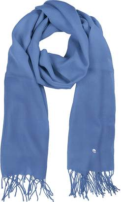 Mila Schon Light Blue Wool and Cashmere Stole