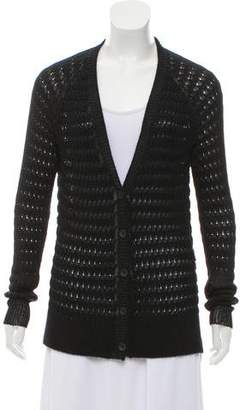 Rag & Bone Metallic V-Neck Cardigan