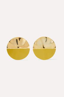 Monica Sordo Nausheen Shah x Gala Coated Gold-plated Earrings - Yellow