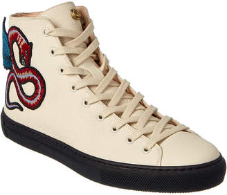 Gucci Winged Dragon Leather High-Top Sneaker